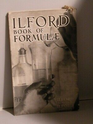 Ilford Vintage book of FORMULAE c1930s