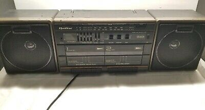 Vintage Quasar GX3628 Stereo Radio Double Cassette Recorder Boombox