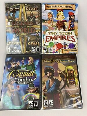 Legends Of The World, Cradle Of Persia/Egypt & More PC Game Match-3 CD Rom NEW:)