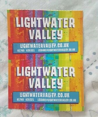 2 Adult Lightwater Valley Tickets R.R.P £45