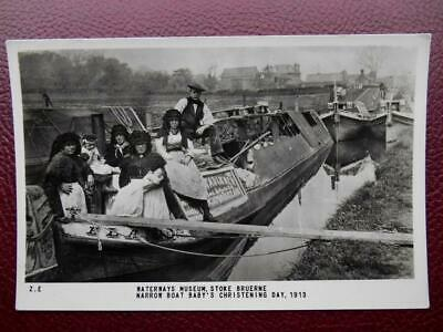 Canal Boat Baby's Christening Day 1913 Stoke Bruerne Northamptonshire RP c1960s