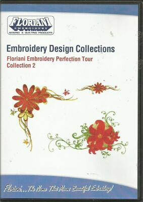 Floriani Machine Embroidery Designs CD  Collection #2  Florals