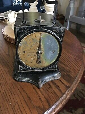 Antique Cast Iron, Brass Face Universal Family Scale Co. 12 lb. Black W/ Gold