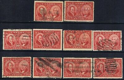 Canada #148(3) 1927 20 cent Baldwin & Lafontaine 10 Used CV$100.00