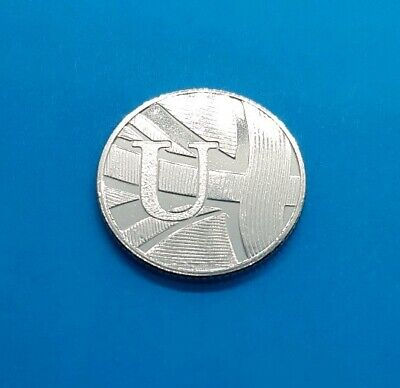 Alphabet A to Z 10p  Ten Pence Coin Letter U Uncirculated 2019 from sealed bag ³