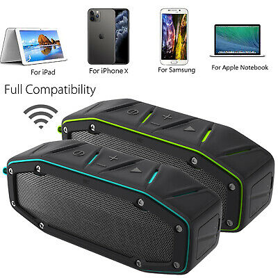 Bluetooth Rechargeable Wireless Speaker Portable Outdoor USB TF FM Radio Stereo