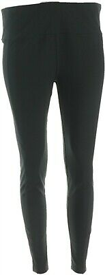 Anybody Move Active Stretch Jersey Knit Ankle Length Legging Black L NEW A349825