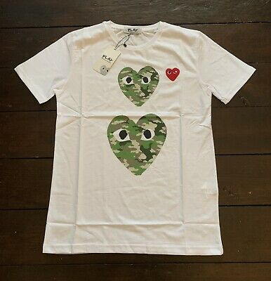 commes des garcons PLAY T-Shirt White EXTRA EXTRA LARGE...XXL