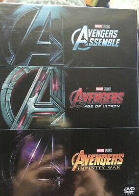 Marvel's Avengers 1-3 (DVD) 3 Movie Collection - Trilogy - Brand New