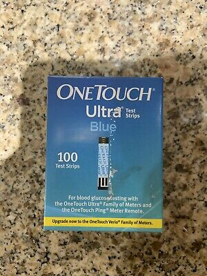 100 One Touch Ultra Blue Diabetic Test Strips Exp 09/30/2020