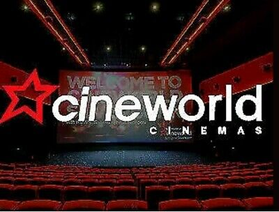 2x Cineworld standard Cinema tickets - Sundays Only - Fast delivery by email