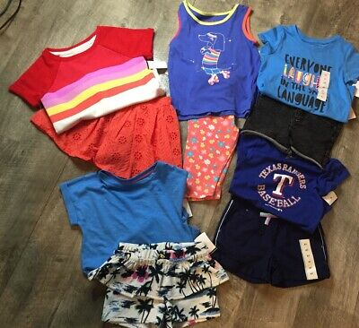 10 Piece Lot Of Girls 4T Summer Clothing Toldder Sets New Colors Spring Cute