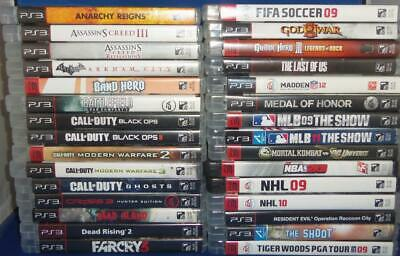 Playstation 3 PS3 Variety Lot of 30 Video Games God Of War III + More!!! LOOK