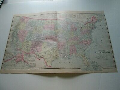 1894-1895 Antique Map, Stuart's Maine Atlas, United States, O W Gray & Son