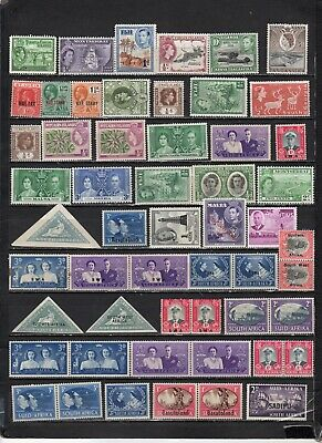 British Colonies - GB  collections  Lot Of Early Unused NH -VLH - HStamps (GBL7)