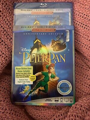 Walt Disney PETER PAN (Blu-Ray+DVD+Digital) The Signature Collection ANNIVERSARY