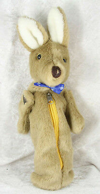 Kangaroo pencil case zip closure 13 inches long zoo animal collectable
