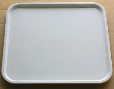 "Recycled Microwave Oven White Ceramic Plate / Tray 16"" X 14 3/8"""