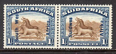 South West Africa 1927 1s Brown & Blue (Wildebeest) SG51 M/Mint