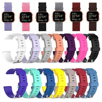 Jiusion Watch Band Wristband Rubber Strap Woven Fabric Silicone For Fitbit Versa