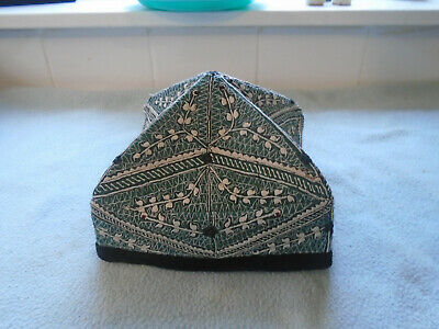 Vintage Chinese Embroidered Hat Folding