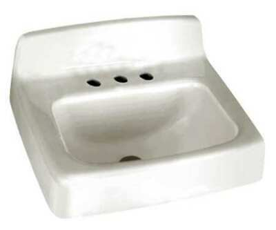 AMERICAN STANDARD 4869004.020 Bathroom Sink,Enameld Cast Iron,18 In. L