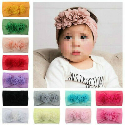 Toddler Girl Kid Baby Big Bow Hairband Headband Stretch Knot Head Wraps Pretty