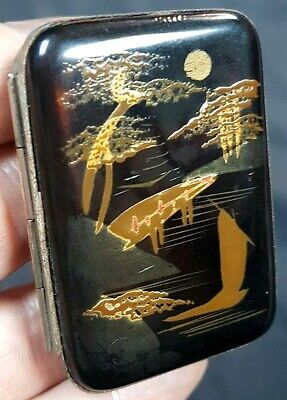 Antique Japanese Taisho Period. Lacquered Match Book Holder c1920