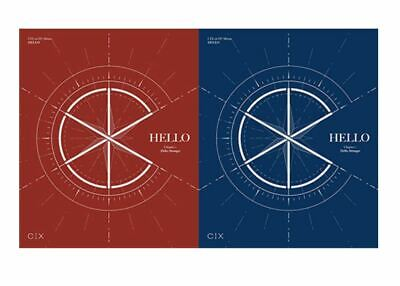 "K-POP CIX 1st EP Album ""HELLO"" Chapter 1. - 2 Photobook + 2 CD / Official 2 SET"