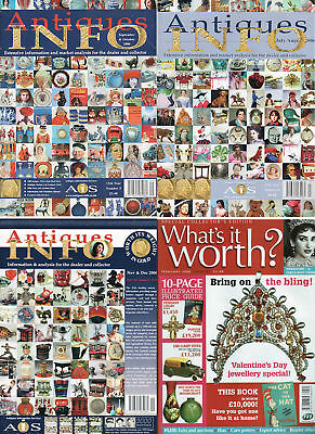 Rare 4 2006 UK Antique Collector Magazines - What's It Worth & Antiques Info