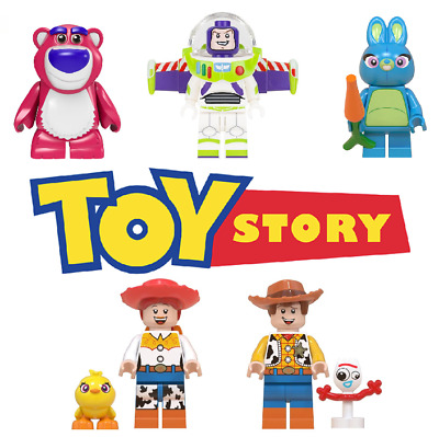 Toy Story Woody Jessie Buzz Lightyear Cartoon Building Blocks Mini Figure DIY