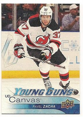 Pavel Zacha 16-17 Upper Deck 1 Young Guns Rookie Card UD Canvas