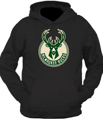""" MILWAUKEE BUCKS ""  NBA   INSPIRED HOODIE !  basketball   GREY / BLACK !  HOODY"