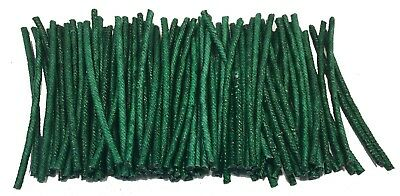 "100 Lot 3 mm Premium American Made green cannon Fuse 3"" cut 3/32 35 to 40 sec/ft"