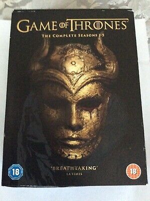 Game of Thrones Complete Season 1-5 Slimline DVD Very Good UK Region 2
