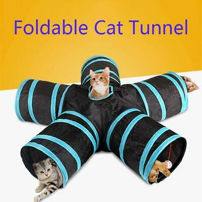 2/3/4/5 Holes Foldable Pet Rabbit Cat Tunnel Training Toy for Animal Play Tube
