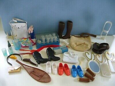 Vintage 1970s Pedigree Sindy Accessories - Handbags Ballet Stand Shoes Rollers