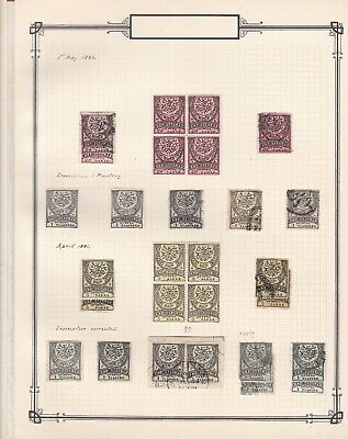 Ottoman Empire / Turkey 1880-81 collection on a page