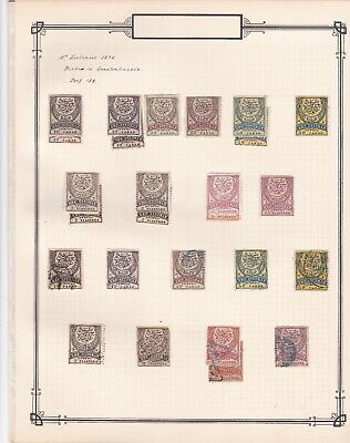Ottoman Empire 1876 collection on a page