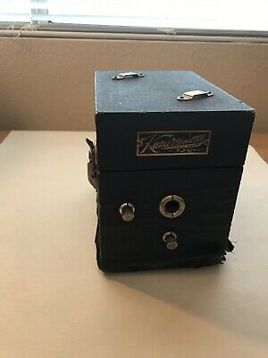 Antique Miniature Traveling Phonograph Record Player Kameraphone