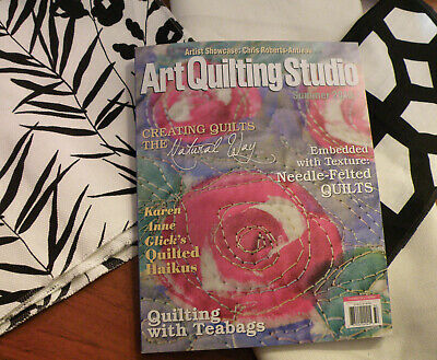6 Issues Art Quilting Studio Mixed Media Magazines-Very Good Condition