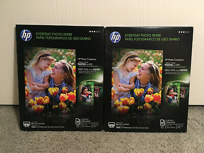"Lot of 2 HP Everyday Photo Paper Glossy 8.5"" x 11"" 50 Sheets Pack Q8723A"