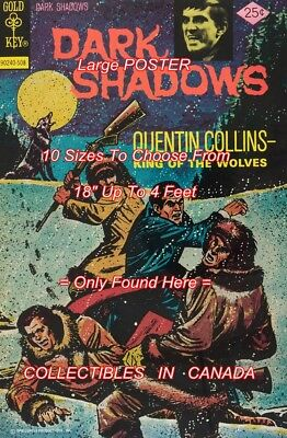 """DARK SHADOWS 1975 #33 Barnabas WOLVES = POSTER 10 SIZES Not Comic Book 18""""-4 FT"""