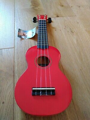 BRAND NEW Mahalo Red Ukulele with Soft Cover with tags UNUSED