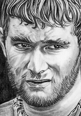 ORIGINAL ACEO sketch card GAME OF THRONES Mark Stanley GRENN