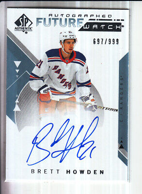 18/19 Ud Sp Authentic Brett Howden Future Watch Rc Rookie Auto /999 #202