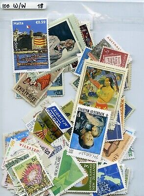 Good Value 100 W/W Stamps Inc Large Art All Different Off Paper Help Msf 18 Look