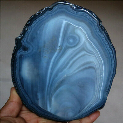 594G  BRAZILIAN Agate Slice With Crystal Geode Center Polished Both Sides
