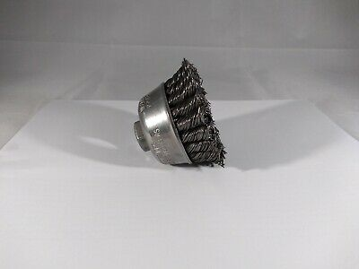 """NEW"" Osborn 33053 2-3/4 Knotted Cup Brush .020 Carbon Steel Wire 5/8-11 AH"