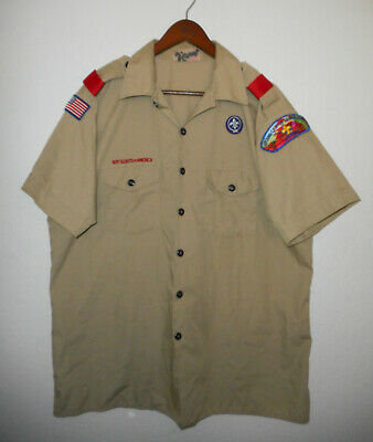 BOY SCOUTS Of America UNIFORM Shirt BSA Scout USA Adult Mens : X-LARGE XL